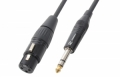 Cable XLR Female - 6.3mm Stereo 6.0m