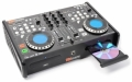 Mixer & 2 USB-spelare, 2 CD-spelare, 2 Scratchtallrikar, 2 belysta LED-displayer inuti, 4 effekter: Reverse Brake Scratch Reloop. 2 BPM-räknare. Startsnabb som CDJ2000.  Koppla HDD, laptop, PC/Mac, US