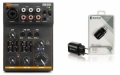 3-kanals Mini-mixer m BT + USB strömadapter